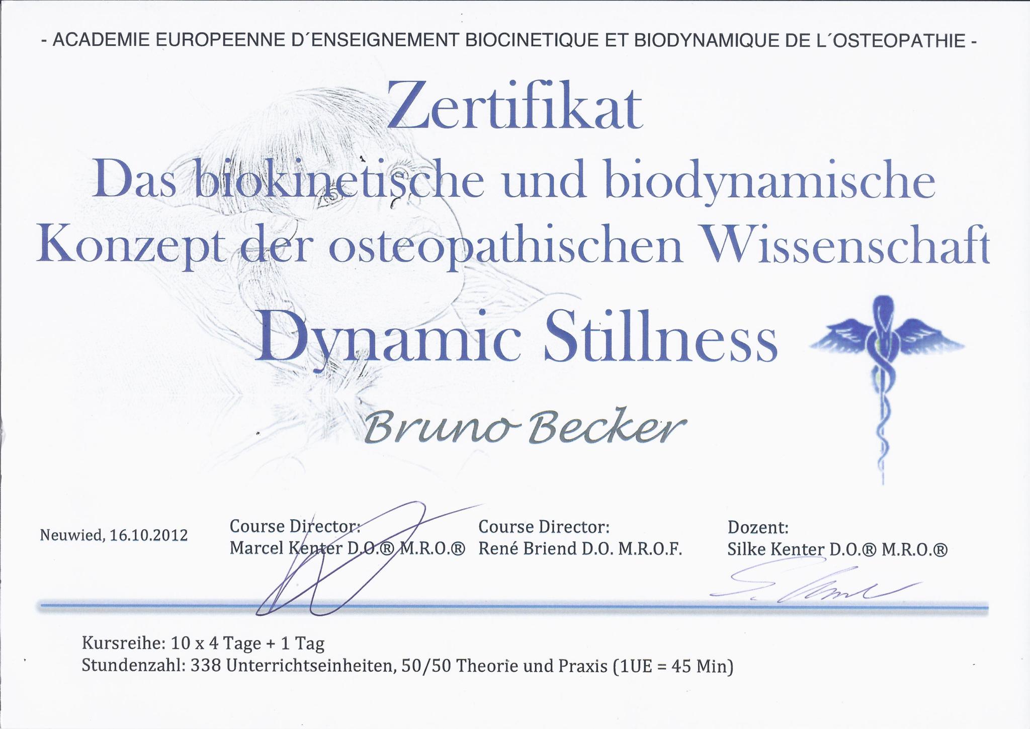 Bruno Becker Osteopathie Dynamic Stillness